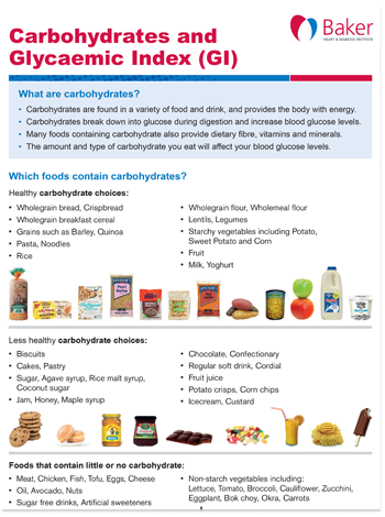 Carbohydrate and GI fact sheet